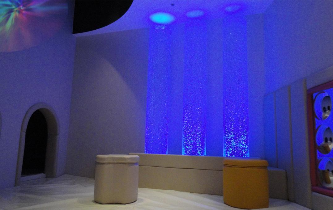 韓国のロッテホテル内に設計したキッズルーム内のスヌーズレンコーナー