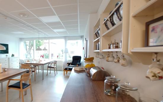 デンマークの認知症高齢者施設のダイニングキッチン