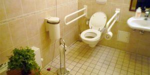 ドイツの老人ホームの個室にあるトイレ